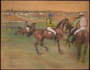Edgar Degas Race Horses